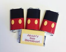 50 MICKEY MOUSE MINI CANDY BAR WRAPPERS PARTY FAVOR