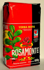 1kg Yerba Mate Rosamonte Tea Argentina With Stims+Free Delivery & Guarana Powder