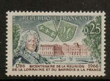FRANCE SG1718 1966 BICENT OF REUION OF LORRAINE & BARROIS WITH FRANCE  MNH