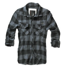 BRANDIT CLASSIC CASUAL CHECK SHIRT MENS COTTON WORK LONG SLEEVE VINTAGE FLANNEL