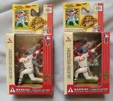 MARK McGWIRE ST LOUIS CARDINALS TOPPS ACTION FLATS FIGURE & CARD LOT OF 2