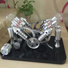 Powerful V4 Engine Motor Model Toy 4 Cylinders Hot Air Stirling Engine Model Kit