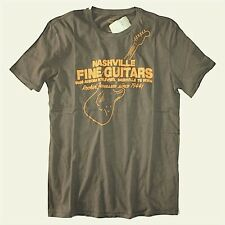 Lucky Brand - NWT - Mens XXL - Brown Nashville Guitar Cotton T-Shirt - Guitars