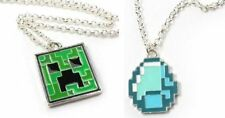Minecraft CREEPER & GEM Pendant Necklace Set of 2