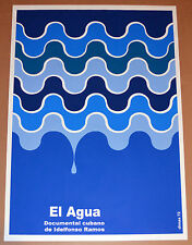 "24x36""Cuban movie Poster for art film""El agua""Water.Conserve energy.Enviromental"