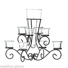 6 Black Candelabra Large Candleholder Wedding Centerpieces - New