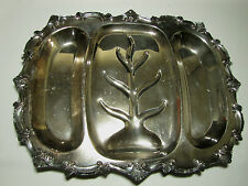 Vintage W.S. Blackinton Silver Plated Divided Meat Platter Chippendale