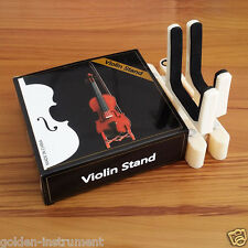 Violin Stand Light Stead Veight Foldable Adjust with bow holder white color New