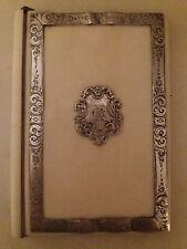 """Ancien Carnet de Bal Porte Carte Napoléon III Argent Massif Monogrammé """"CAK"""""""