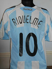 Argentina Home Shirt ( 2007/2009* RIQUELME 10) medium men's #346