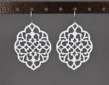 teardrop earrings filigree dangle scroll oval medallion cut out moroccan big