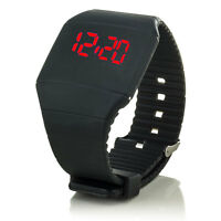 C.D.R. Digital Silikon LED Armband Uhr Armbanduhr Watch Herren Damen Kinder Neu