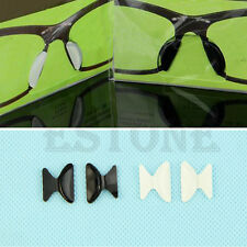 1Pair Eyeglass Sunglass Glasses Spectacles Anti-Slip Silicone Stick On Nose Pad