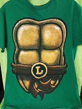 TMNT Teenage Mutant Ninja Turtles Leonardo Costume T Shirt M Double Sided
