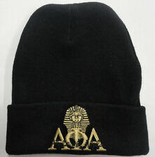 *NEW* ALPHA PHI ALPHA SCRIPT/SPHINX BLACK WINTER HAT