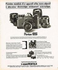PUBLICITE ADVERTISING 054   1973  ASAHI PENTAX    ES  appareil photo