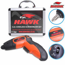 HAWK TOOLS 3.6V 102 PIECE RECHARGEABLE CORDLESS ELECTRIC SCREWDRIVER TOOL KIT