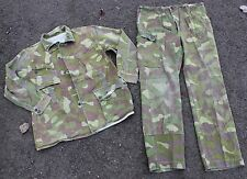 (4) FINLAND ARMY M62 UNIFORM REVERSIBLE WOODLAND - SNOW CAMO