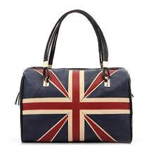 Women's British Style Union Jack UK Flag Leather Handbag Shoulder Vintage Bag