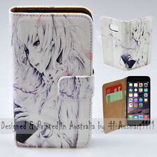 """Wallet Phone Case Flip Cover for iPhone 6 6S Plus - 5.5"""" - Reading Girl Anime"""