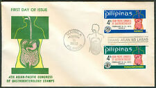 1972 Philippines 4TH ASIAN-PACIFIC CONGRESS OF GASTROENTEROLOGY STAMPS FDC