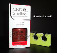 CND Shellac Leather Satchel UV Gel Polish .25oz New With Box + BONUS ITEM!