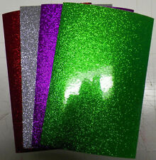 "Vinyl self adhesive glitter flake 6""x9""x5mil 4 sheets 4 colors your choice"