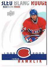 2008-09 Upper Deck Montreal Canadiens Centennial Jersey #LBBR-RH Roman Hamrlik