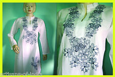 Wholesale Lot of 10, Hand Embroidered, ChikanKari Cotton Women Kurti Top Tunics