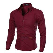 Fashion Men's Slim Fit Button Down Shirt Long Sleeve Dress Shirts Casual Shirts
