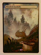 Magic the Gathering Fetch Land MTG altered art Wooded Foothills