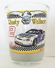 RUSTY WALLACE #2  NASCAR RACING    SHORT SHOT GLASS