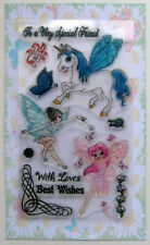Dancing fairy ~ clear stamps set vintage FLONZ 150 rubber acrylic
