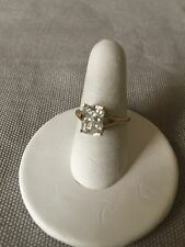 Clear Cubic Zirconia (CZ) Solitaire Ring Size 5 14K Yellow Gold