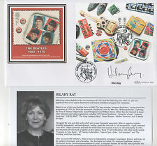 THE BEATLES - HILARY KAY - SIGNED - SILK FIRST DAY ENVELOPE