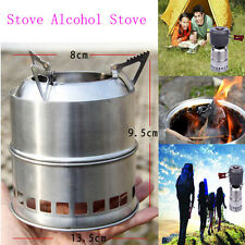 Portable Stainless Steel Wood Burning Gas Outdoor BBQ Camp Stove Alcohol Stove