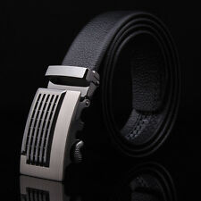 New Leather Automatic Buckle Men's Fashion Casual Waist Strap Belts Waistband