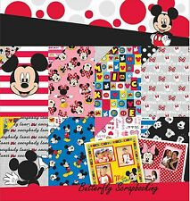 DISNEY MICKEY 12x12 Scrapbooking Paper Pad 36 Sheets EK SUCCESS 51-00125 New