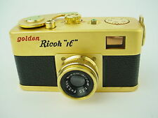 Golden Steky (Ricoh 16) Subminiature Camera w/ 2.5cm f/2.5 Riken Lens - Rare