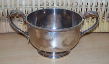 Silver plated EP sugar bowl. Trophy Style two handled - Joshua Maxfield & Sons