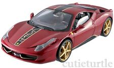 Hot Wheels Elite Ferrari 458 Italia China Limited Edition 1:18 Diecast Red BCK12