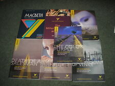 LOT OF 7 BOOKS YORK NOTES-MACBETH-COLOR PURPLE-ROMEO & JULIET-DEATH OF A SALESMA