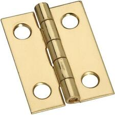 """25 Pk Solid Brass 3/4"""" Wide X 1"""" High Jewelry Box Small Chest Hinge 4/Pk N211177"""