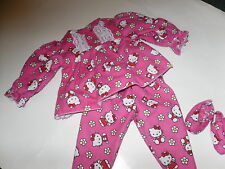 Hello Kitty Pajama #2  Doll Clothes /free Slippers fits 18in American Girl Doll