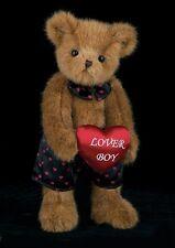 "14"" PLUSH VALENTINE BEAR  CARSON NOVA ""LOVER BOY"" #190085 BEARINGTON COLLECTION"