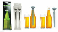 Set of 2 Beer Chiller Stick Stainless Steel Chill Alcohol Ice Drinks Wine Cold