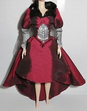 DRESS ONLY ~ BARBIE DOLL WIZARD OF OZ WICKED WITCH OF THE EAST SATIN GOWN