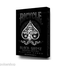 Carte Bicycle Black Ghost by Ellusionist + 1 Cut Card in Omaggio