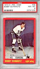 1973-74 O-Pee-Chee OPC ##35 Bobby Schmautz Vancouver Canucks PSA 8 NM-MT