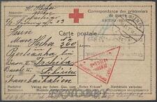 Camp 1915 Austria Wien to Russia POW Kriegsgefangenenpost Red Cross Rote Kreuz 9